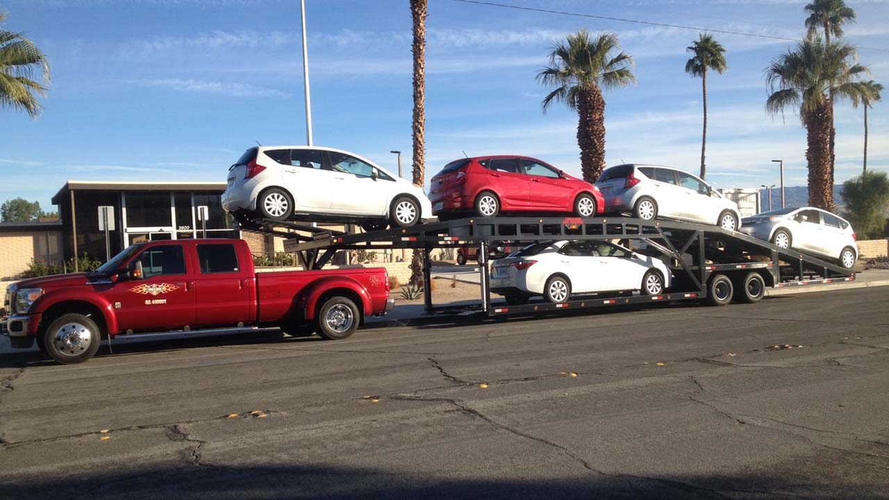 Used Sun Country Three Car Trailers