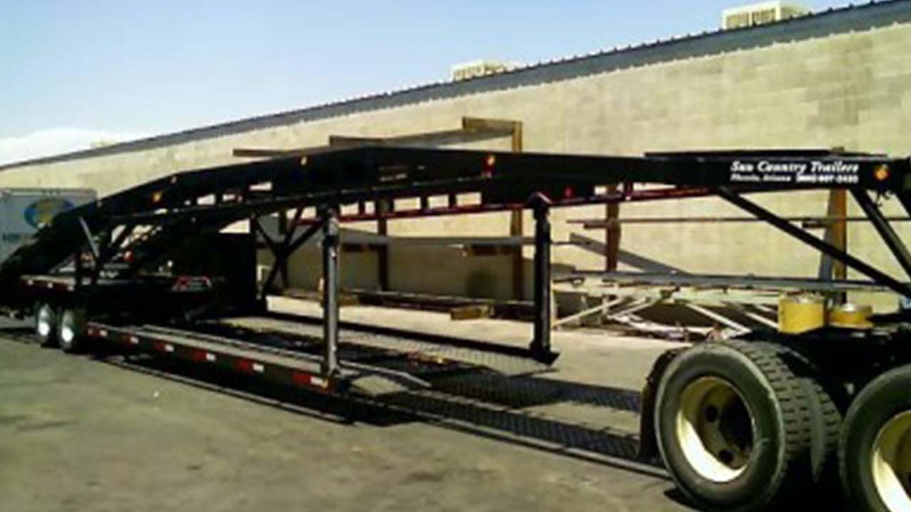 48 foot bellyload 4 car hauler suncountry trailers. Black Bedroom Furniture Sets. Home Design Ideas